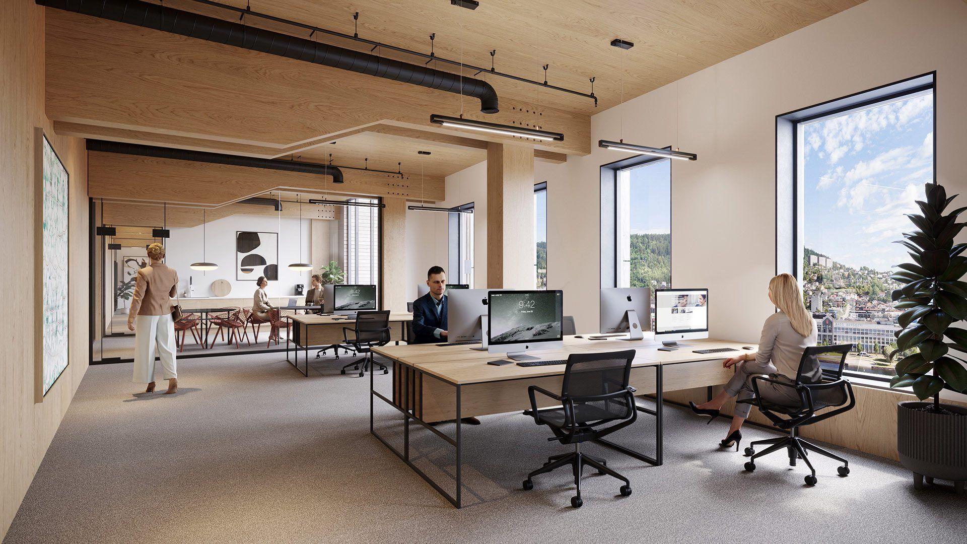 Utleie-kontorlokaler