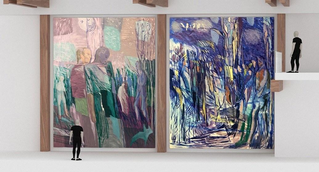 utsmykning av kunstner Sverre Bjertnæs. Kunst